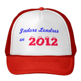 J'adore Londres en 2012 Trucker Hat
