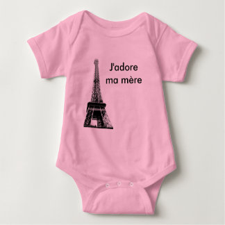 J'adore ma mere baby baby bodysuit