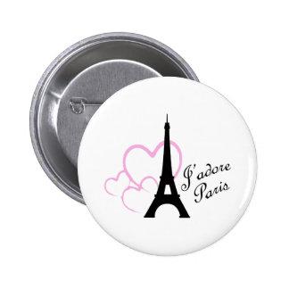 Jadore Paris 2 Inch Round Button
