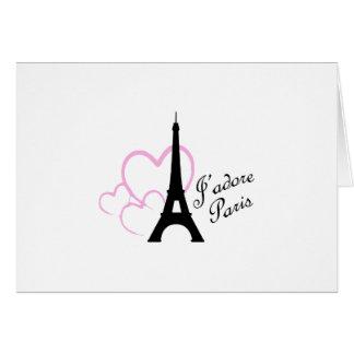 Jadore Paris Greeting Card