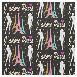 J'ADORE PARIS EIFFEL TOWER DESIGN FABRIC