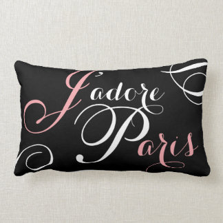 J'adore Paris I Love Paris Black Pink Pillow