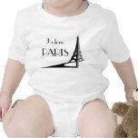 J'adore PARIS infant Baby Bodysuits