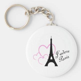 Jadore Paris Basic Round Button Keychain