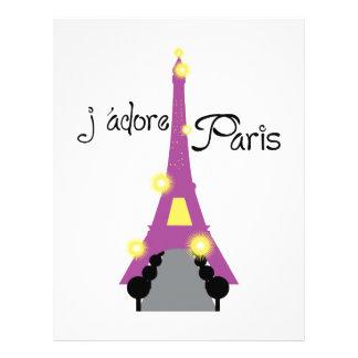J'adore Paris Customized Letterhead