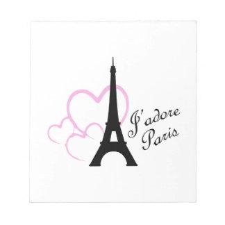 Jadore Paris Memo Pads