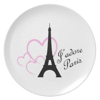 Jadore Paris Dinner Plate