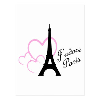 Jadore Paris Postcard