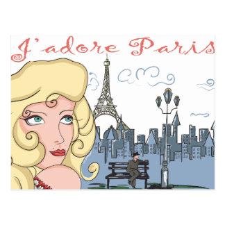 J'Adore Paris Postcards