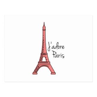 Jadore Paris Postcard