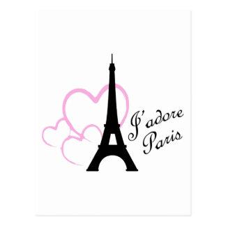 Jadore París Tarjeta Postal