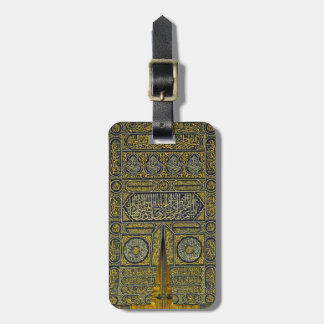 Jadye árabe musulmán islámico Kaaba de la Etiqueta De Maleta