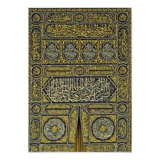 """Jadye árabe musulmán islámico Kaaba de la Invitación 5"""" X 7"""""""