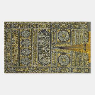 Jadye árabe musulmán islámico Kaaba de la Pegatina Rectangular