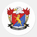 Jaeger Family Crest Sticker