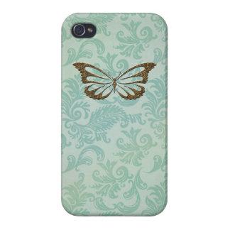 Jael: Beach Butterfly Damask iPhone 4 Case