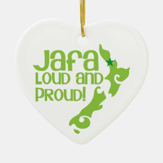 ¡JAFA ruidoso y orgulloso! (Nueva Zelanda Adorno Navideño De Cerámica En Forma De Corazón