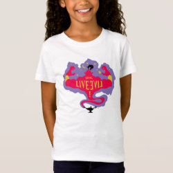 Girls' Fine Jersey T-Shirt with Jafar: Long Live Evil design