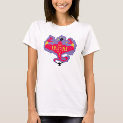 Women's Basic T-Shirt with Jafar: Long Live Evil design