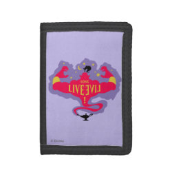 TriFold Nylon Wallet with Jafar: Long Live Evil design