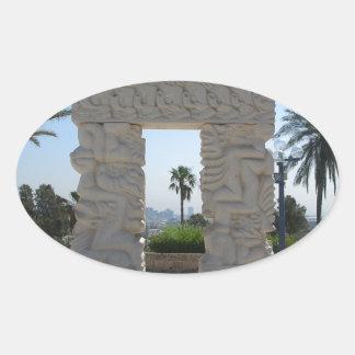 Jaffa Oval Sticker