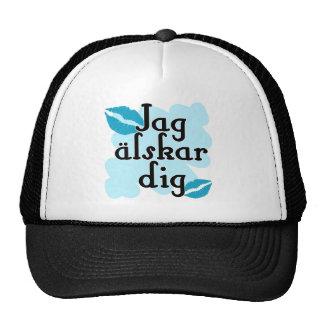 Jag älskar dig - Swedish I Love You Trucker Hat