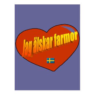 Jag Alskar Farmor Postcard
