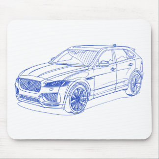 Jag Fpace 2017 Mouse Pad
