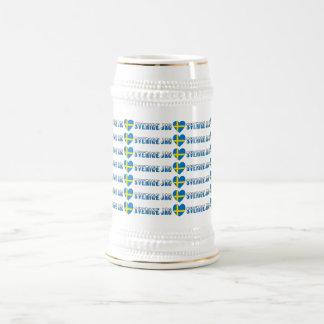 Jag Kärlek Sverige Beer Stein