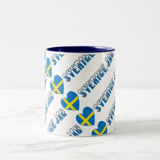 Jag Kärlek Sverige Two-Tone Coffee Mug
