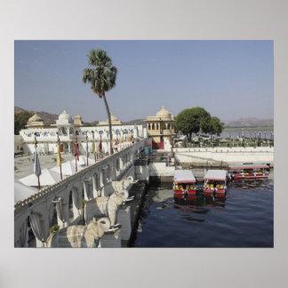Jag Mindar Palace, Lake Pichola, Udaipur, India. Poster