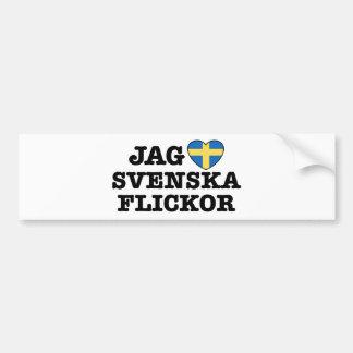 Jag Svenska Flickor Bumper Sticker