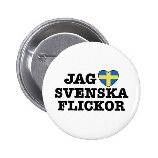 Jag Svenska Flickor Buttons