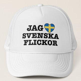 Jag Svenska Flickor Trucker Hat
