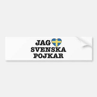 Jag Svenska Pojkar Bumper Sticker
