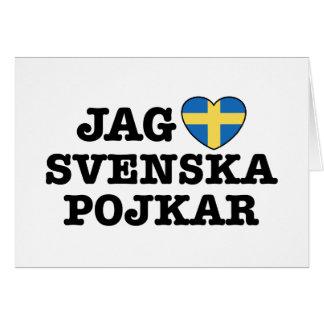 Jag Svenska Pojkar Card