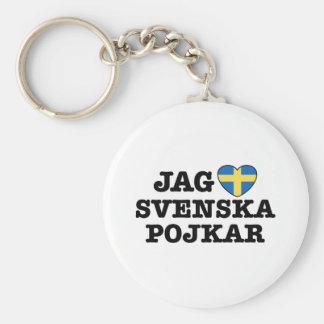 Jag Svenska Pojkar Keychain