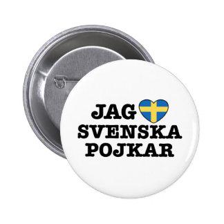 Jag Svenska Pojkar Pinback Buttons