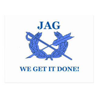Jag We Get It Done Postcard