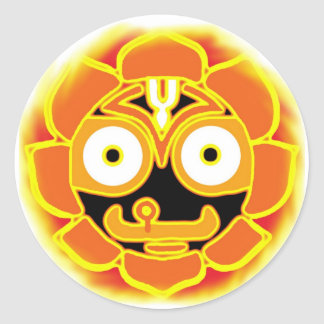 Jagannath Swami round sticker