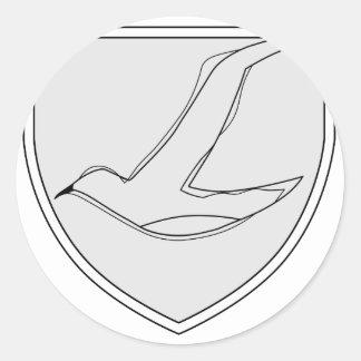 Jagdgeschwader 77 Herz 5.Staffel Pegatina Redonda