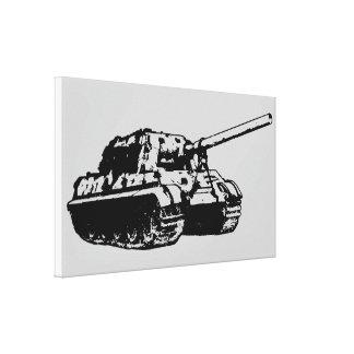 JAGDTIGER Stretched Canvas Print