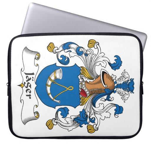 Jager Family Crest Laptop Sleeves