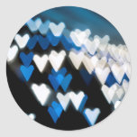Jagged blue hearts stickers