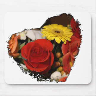Jagged Edged Heart Bouquet Mouse Pad