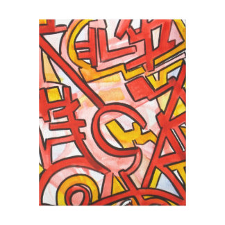 Jagged Edges - Abstract Art Hand Painted Canvas Print