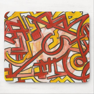 Jagged Edges - Abstract Art Hand Painted Mouse Pad