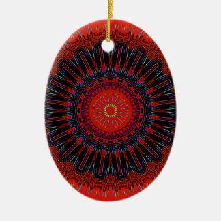 Jagged Edges of Reality Kaleidoscope Ceramic Ornament