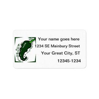 Jagged green pepper green frame.png custom address label