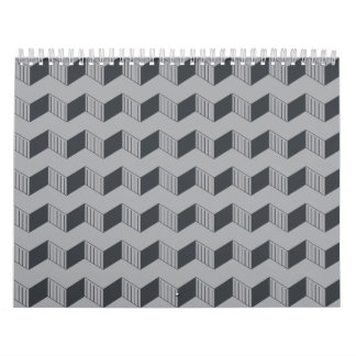 Jagged layers greys calendars
